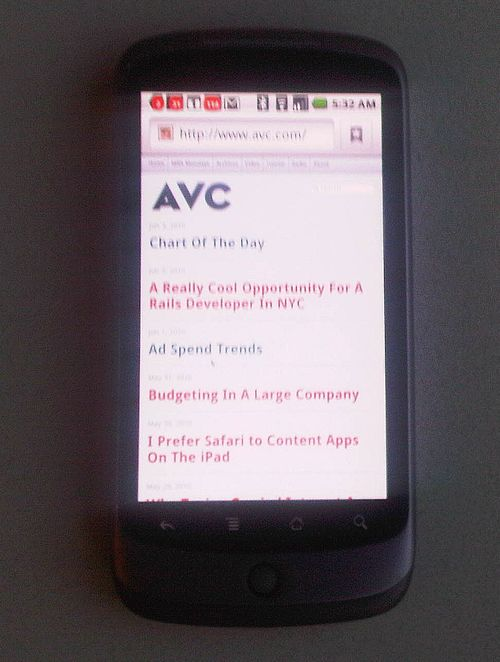 Avc on nexus