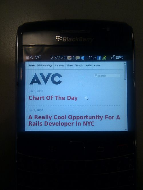 Avc on bberry