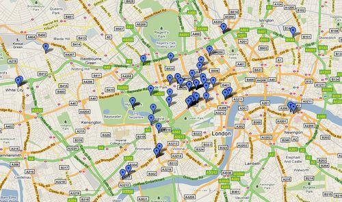 Foursquare checkins london