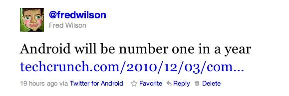 Android tweet