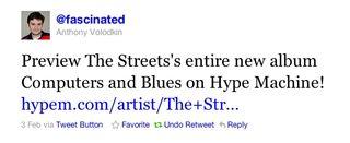 Streets tweet