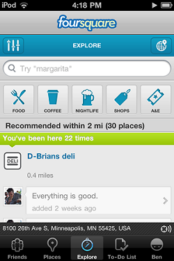 Foursquare-Explore-Ipod