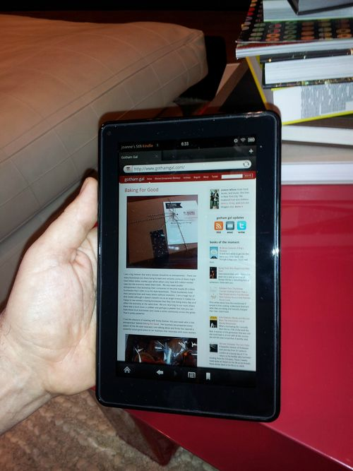 Kindle fire browser