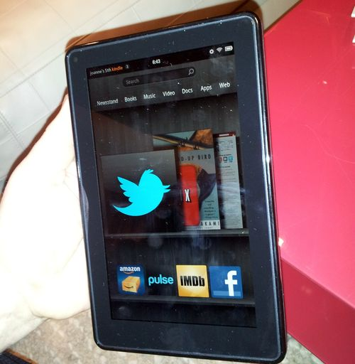 Kindle fire main screen