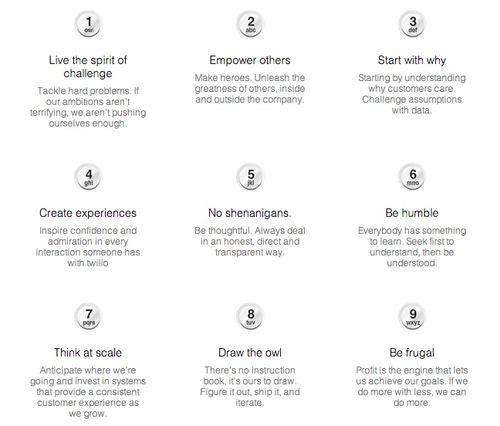 Twilio's nine things