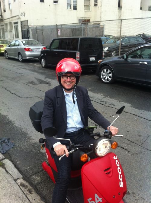 Fred on a scoot