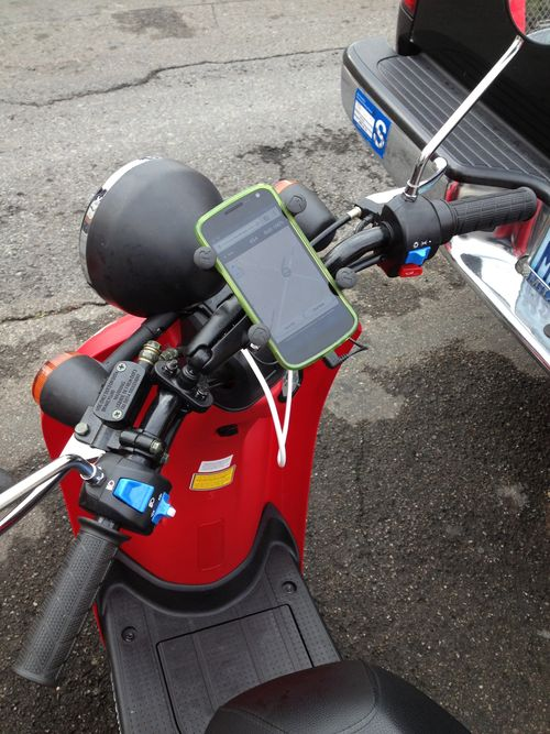 Android on scooter