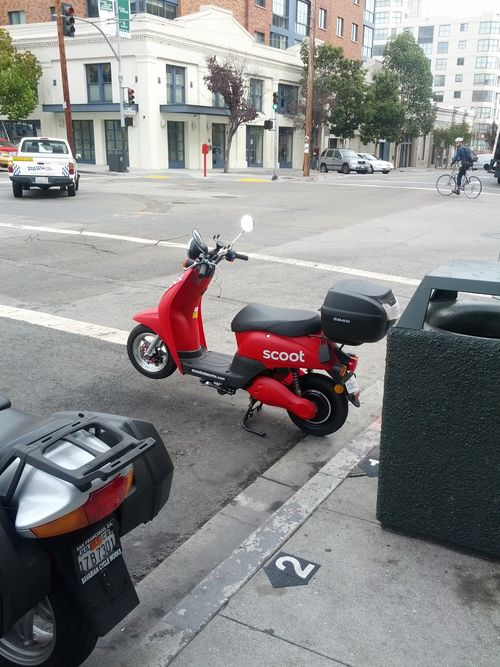 Scooter in street