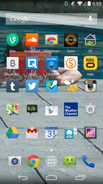 fred's home screen