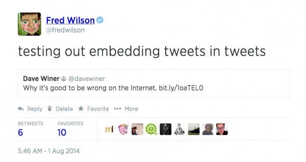 embedded tweet
