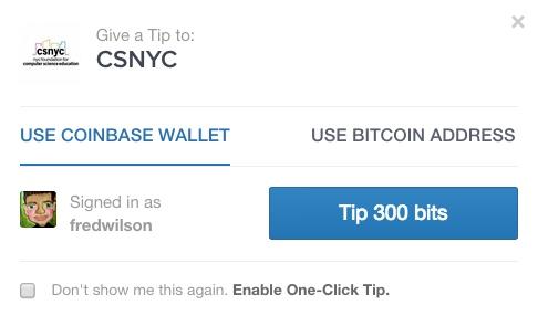 coinbase popup