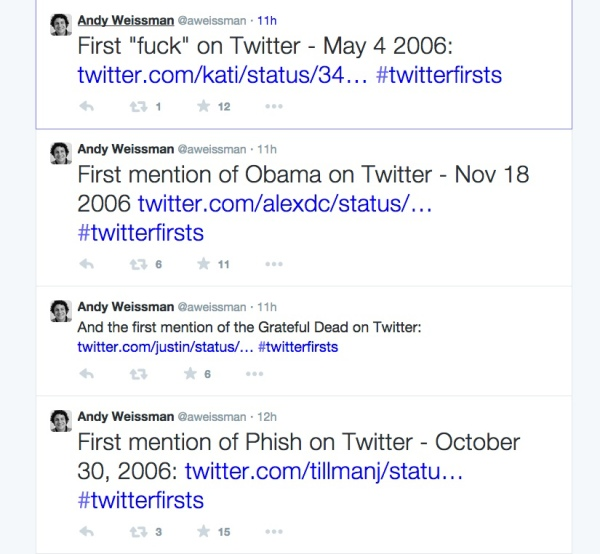 twitter firsts